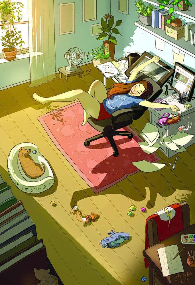 Vavel.gr | Μια καλλιτέχνης απεικονίζει με τον πιο όμορφο τρόπο το πόσο τέλειο είναι να μένεις μόνος σου