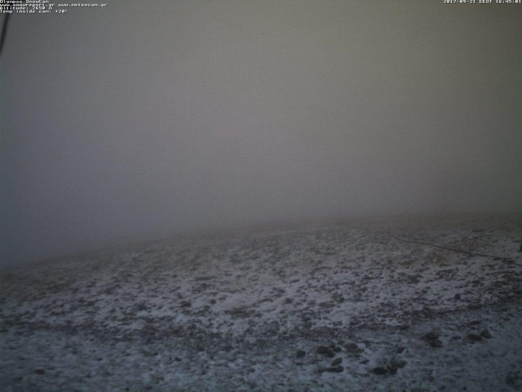 Χιόνισε στον Ολυμπο και το Καϊμακτσαλάν